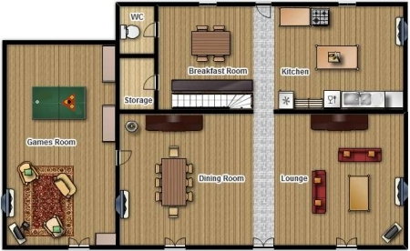 La Pagerie - floor plans of the accommodation